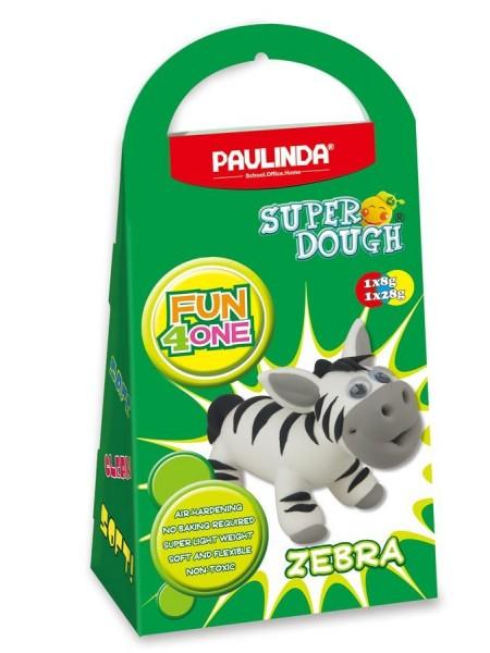 Маса для ліплення Paulinda Super Dough Fun4one Зебра (рухливі очі) PL-1563