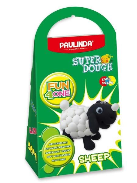 Маса для ліплення Paulinda Super Dough Fun4one Вівця (рухливі очі) PL-1564