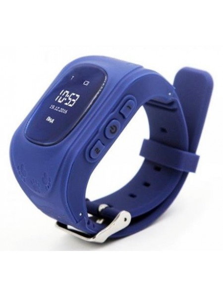 Дитячий GPS годинник-телефон GOGPS ME K50 Темно синій (K50DBL)