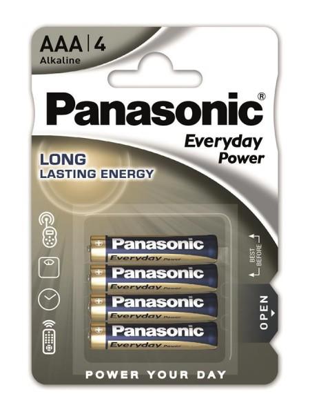 Батарейка Panasonic EVERYDAY POWER лужна AAА блістер, 4 шт. (LR03REE/4BR)