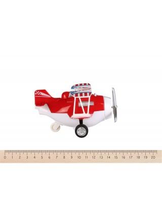 Літак металевий інерційний Same Toy Aircraft червоний SY8013AUt-3