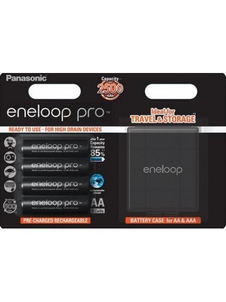 Акумулятор Panasonic Eneloop Pro AA 2500 mAh 4BP+Case