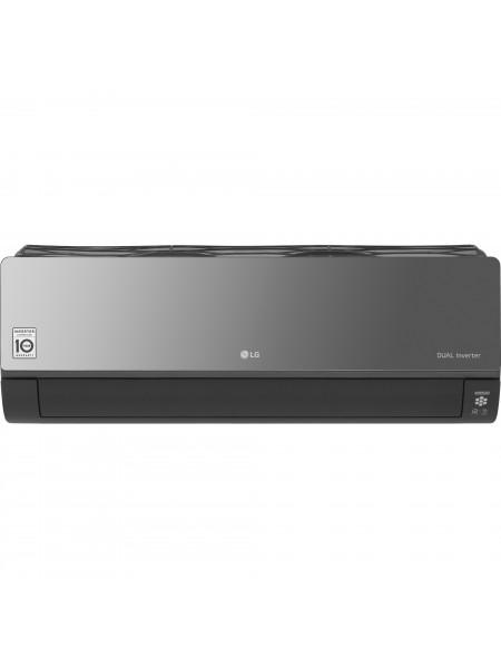 Кондиціонер LG Artcool Mirror AC12BQ, 35 м2, інвертор, A++/A+, до -15°С, R32, Wi-Fi, чорний
