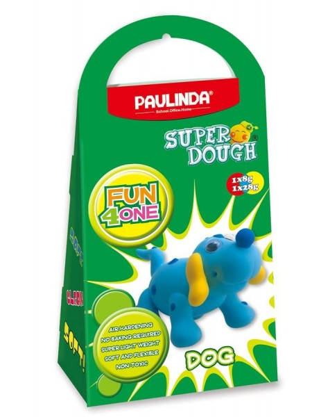 Маса для ліплення Paulinda Super Dough Fun4one Собака (рухливі очі) PL-1562