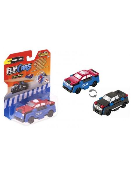 Машинка-трансформер Flip Cars 2 в 1 Таксі і Пікап