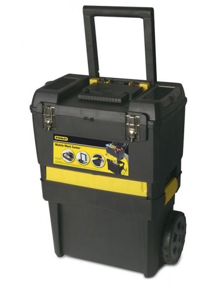 """Ящик для інструменту Stanley """"2 в 1"""", з колесами, 47x29.8x61.9см (STST1-70598)"""