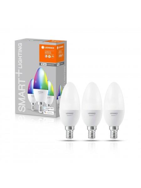 Набір ламп світлодіодних 3шт LEDVANCE (OSRAM) LEDSMART+ WiFi B40 5W (470Lm) 2700-6500K + RGB E14 дім