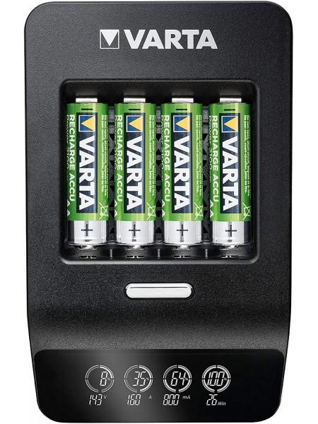 Зарядний пристрій VARTA LCD Ultra Fast Plus Charger + 4xAA 2100 mAh (57685101441)