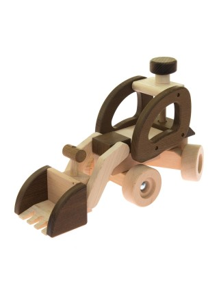Машинка дерев'яна goki Екскаватор (натуральний) 55910
