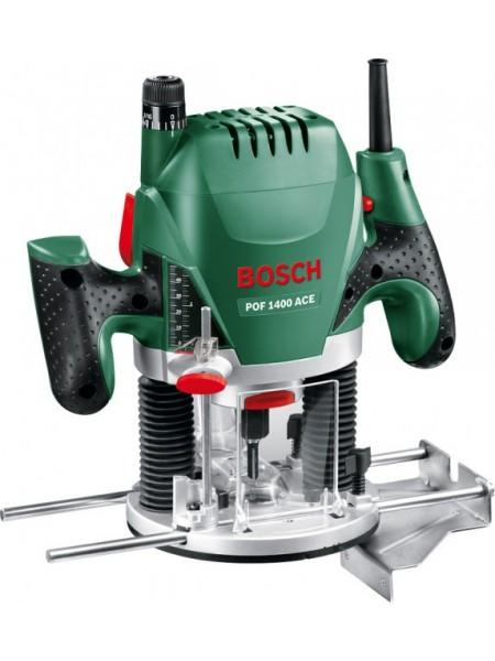 Фрезер Bosch POF 1400 + набір 6 фрез, 1400Вт, 11000-28000 об/хв, 55мм, 3кг (0.603.26C.801)