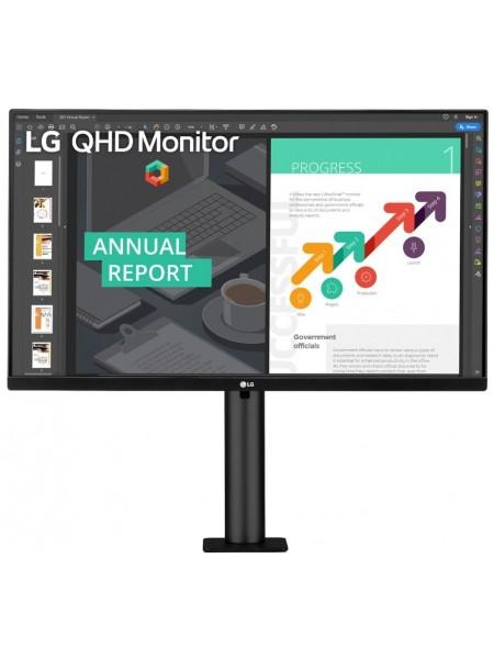 """Монiтор LCD 27"""" LG 27QN880-B 2xHDMI, DP, USB-C, MM, IPS, Pivot, 2560x1440, 75Hz, 99%sRGB, HDR10, Fre"""