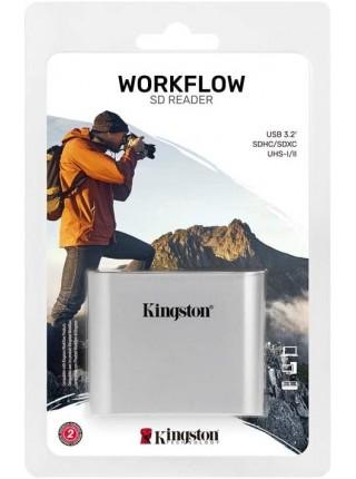 Кардрiдер Kingston Workflow Dual-Slot SDHC/SDXC UHS-II Card Reader (WFS-SD)