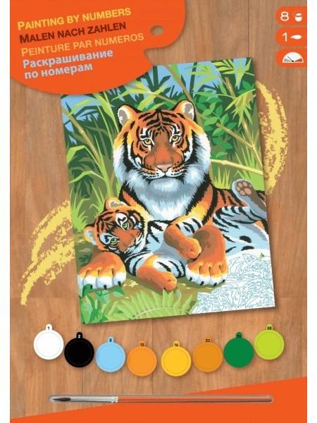 Набір для творчості Sequin Art PAINTING BY NUMBERS JUNIOR Тигри SA0029