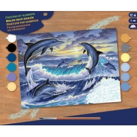 Набір для творчості Sequin Art PAINTING BY NUMBERS SENIOR Світанок з дельфінами SA0563