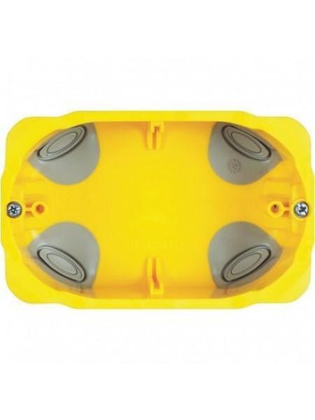 3 модульна коробка для сухих перегородок. Розміри 110x71x52 мм