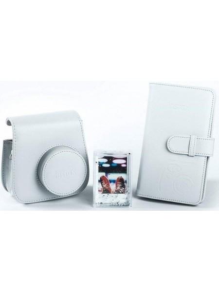 Комплект аксесуарів INSTAX ACCESSORY BUNDLE Smokey White (чохол, фоторамка та фотоальбом) (701001380