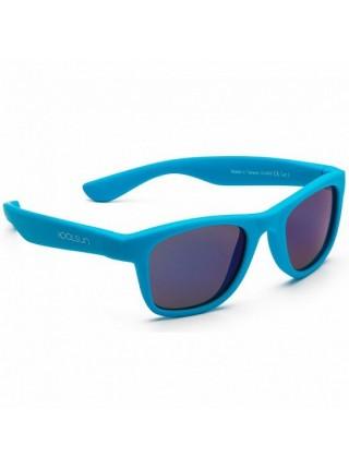 Дитячі сонцезахисні окуляри Koolsun неоново-блакитні серії Wave (Розмір: 1+)