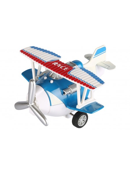 Літак металевий інерційний Same Toy Aircraft синій зі світлом і музикою SY8012Ut-2