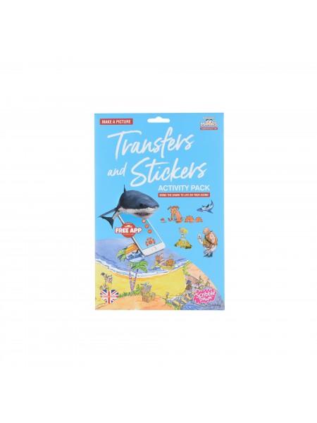 Набір перевідних наклейок Scribble Down з онлайн додатком Острів піратських скарбів SD/20