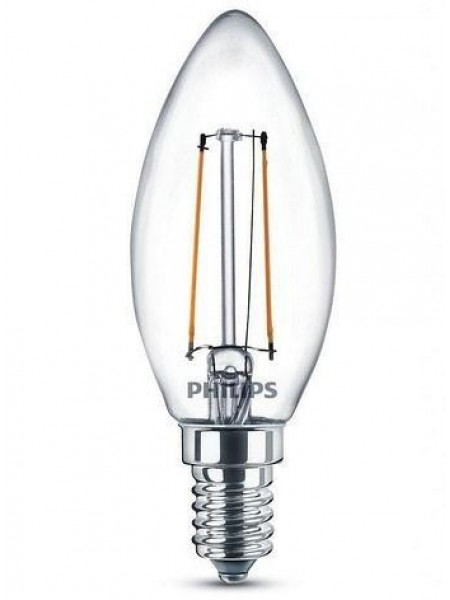 Лампа светодиодная Philips LEDClassic 4-40W B35 E14 830 CL NDAPR