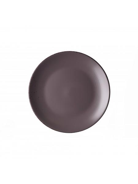 Тарілка десертна Ardesto Lucca, 19 см, Grey brown, кераміка (AR2919GMC)