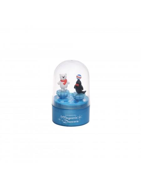 Музична коробка goki Тюлень і білий ведмедик (синя) 13198G-1