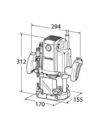 Фрезер Makita RP2301FCX, 2100 Вт, 9000-22000 об/хв, 6/8/12 мм, 6.1 кг