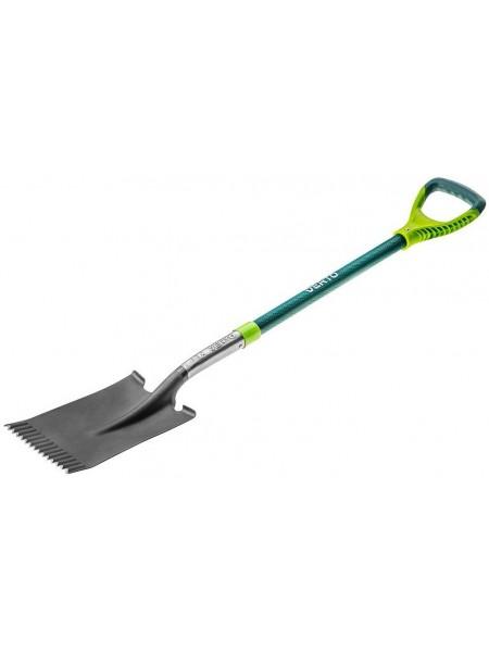 Лопата VERTO пряма, металева ручка (15G004)