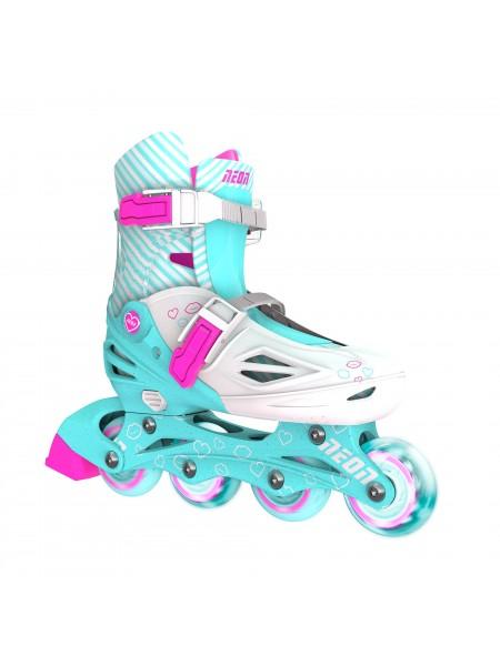 Ролики Neon Inline Skates Бирюзовий (Размір 30-33)