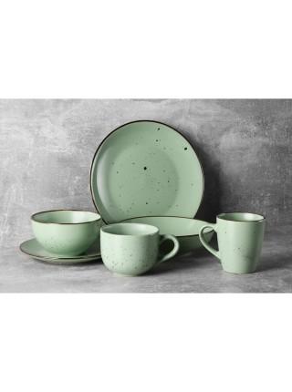 Чашка Ardesto Bagheria, 360 мл, Pastel green, кераміка (AR2936GGC)