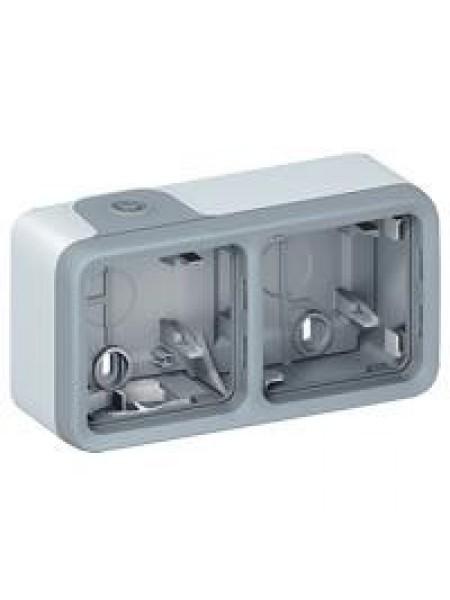 Коробка для накладного монтажу Plexo Legrand  2-постова, горизонтальна (в комплекті  сальники) ІР55,