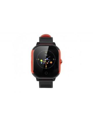 Дитячий телефон-годинник з GPS трекером GOGPS К23 чорний з червоним (K23BKRD)