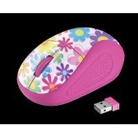 Беспроводная мышка TRUST Primo Wireless Mouse Pink Flwr (21481)