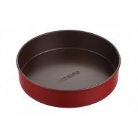 Форма для випікання Ardesto Golden Brown кругла 24 см, сірий,голубий, вуглецева сталь (AR2402R)