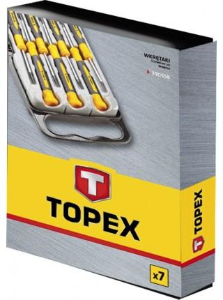 Викрутки прецизійні TOPEX, набір 7 од. (39D558)