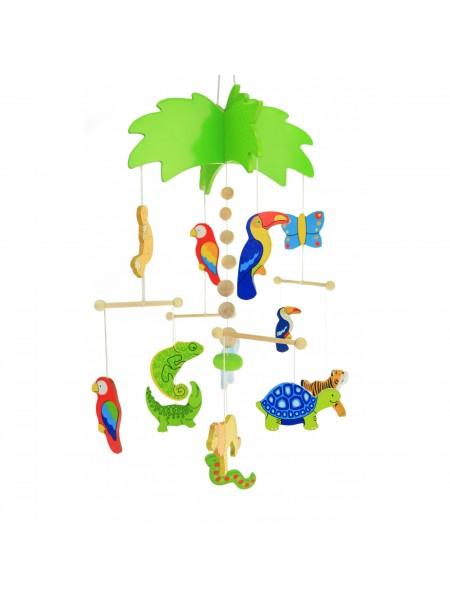 Мобайл дерев'яний goki Пальма