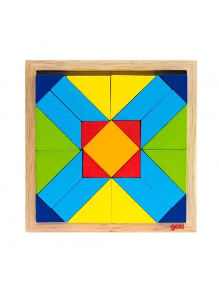 Пазл дерев'яний goki Світ форм-прямокутник 57572-4