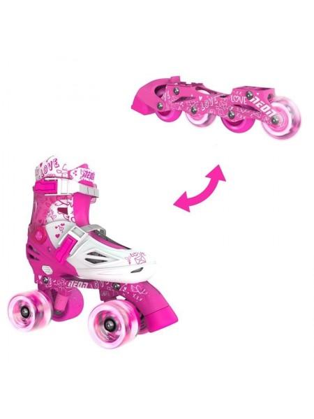 Ролики Neon COMBO SKATES Рожевий (Розмір 34-38)