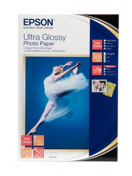Папір ультра гл. 300г/м,50арк. Epson 10x15 Ultra Glossy Photo(50sh) (C13S041943)