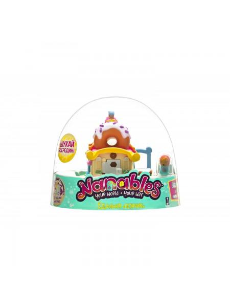 """Ігрова фігурка Jazwares Nanables Small House Містечко солодощів, Їдальня """"Пончик"""""""