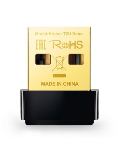 Бездротовий двохдіапазонний мережевий USB-адаптер Tp-Link Archer T2U Nano