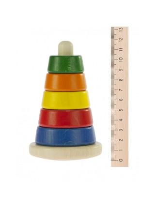 Nic Пірамідка дерев'яна різнобарвна NIC2311