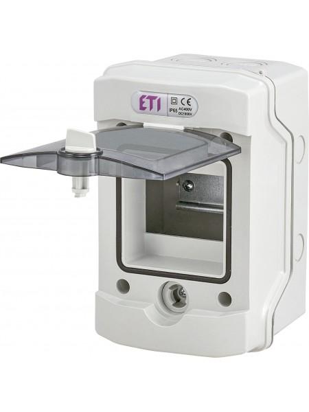 Щит пластиковий  ETI ECH-4Gu (4 модулы зовнішній IP65)