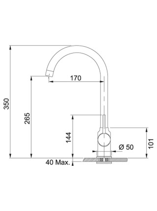Змішувач Franke Pola/115.0622.942 /одноричажний/поворотний/ хром