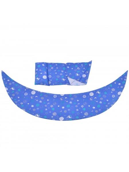 Набір аксесуарів для подушки Nuvita DreamWizard (наволочка, міні-подушка) Синій NV7101Blue