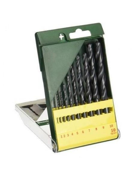 Свердла по металу Promoline HSS-R, набір 10 шт, 1-10 мм (2.607.019.442)