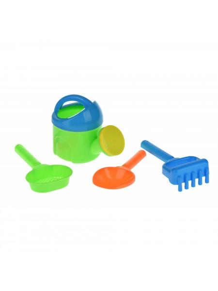 Набір для гри з піском Same Toy з Лійкою 4 шт (зелений)HY-1513WUt-3