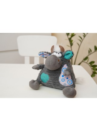 М'яка іграшка Same Toy Корова/Бик (сірий) 18см A1004/18