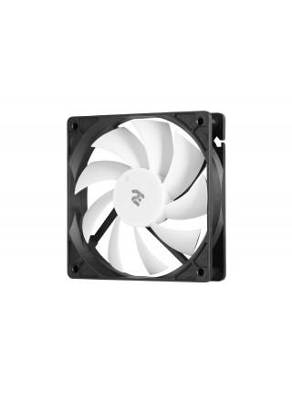 Корпусний вентилятор 2E OEM (F120-S), 120мм, 3PIN, білі лопаті, чорна рамка