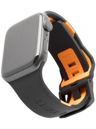 Ремінець UAG для Apple Watch 44/42 Civilian, Black/Orange (19148D114097)